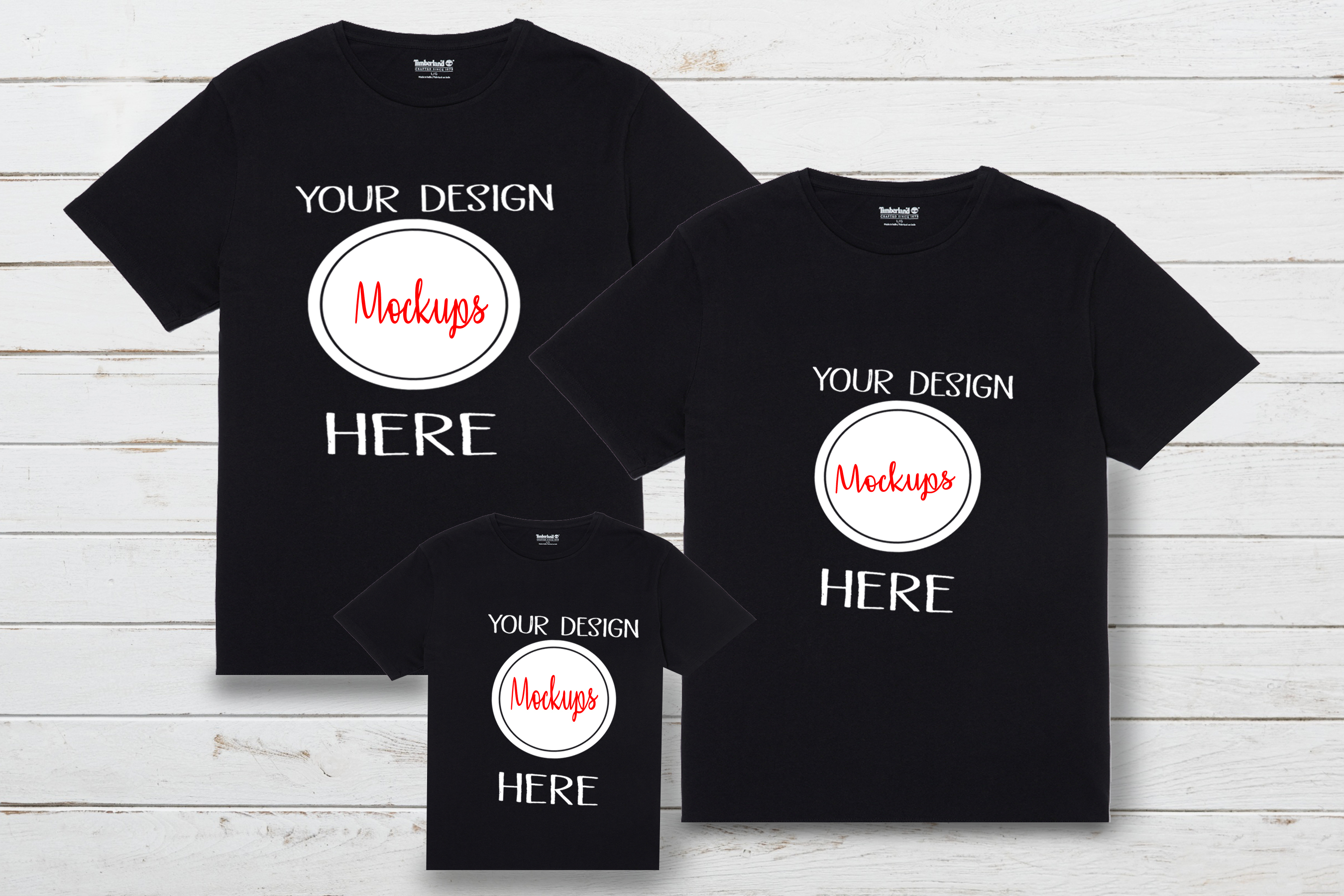 Download Free Family Shirt Mockups Shirt Mockup Mockup Graphic By Scmdesign for Cricut Explore, Silhouette and other cutting machines.