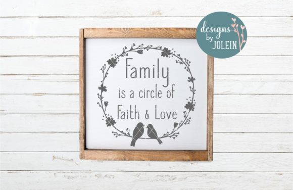 Print on Demand: Family is a Circle Graphic Crafts By Designs by Jolein