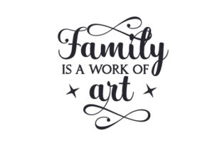 Family is a Work of Art Craft Design By Creative Fabrica Crafts