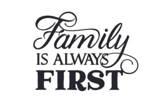 Family is Always First Craft Design By Creative Fabrica Crafts