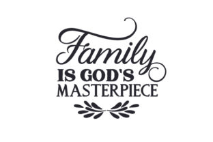 Family is God's Masterpiece Craft Design By Creative Fabrica Crafts