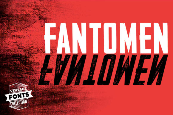 Fantomen Display Font By grin3