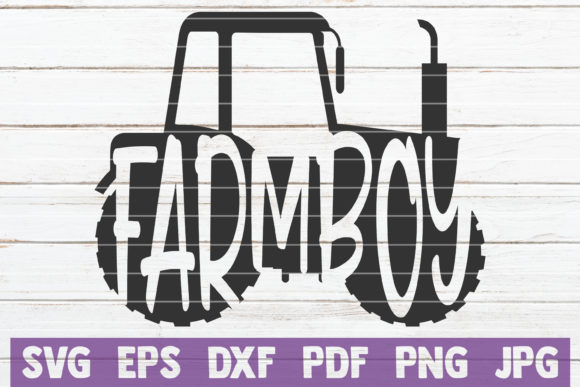 Download Free Farm Boy Svg Cut File Graphic By Mintymarshmallows Creative for Cricut Explore, Silhouette and other cutting machines.