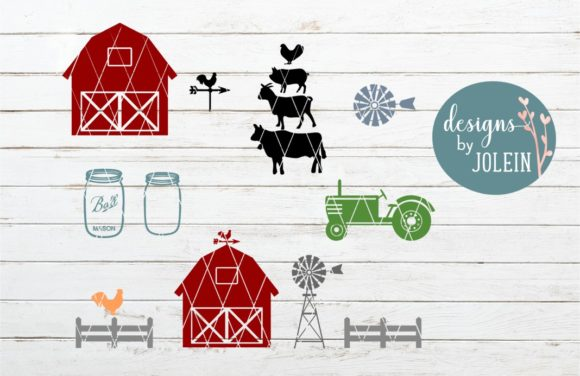 Download Free Farm Elements Clipart Svg Craft File Graphic By Designs By for Cricut Explore, Silhouette and other cutting machines.