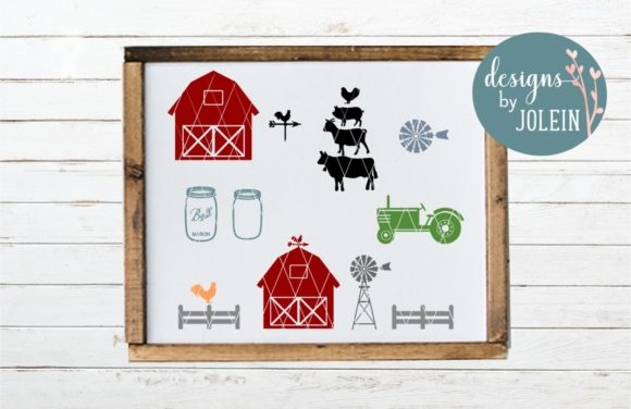 Download Free Farm Elements Clipart Svg Craft File Graphic By Designs By Jolein Creative Fabrica for Cricut Explore, Silhouette and other cutting machines.
