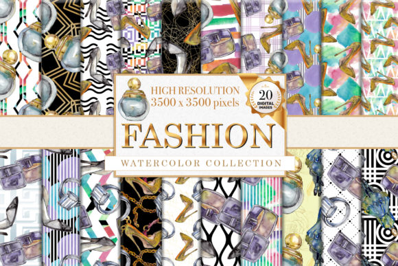 Print on Demand: Fashion Patterns Watercolor Graphic Illustrations By MyStocks