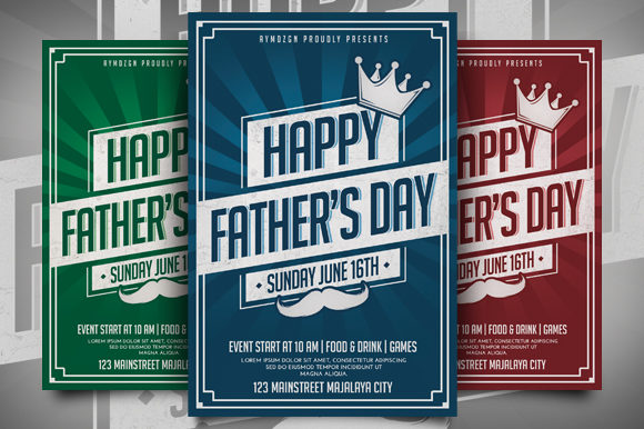 Download Free Fathers Day Flyer Graphic By Ayumadesign Creative Fabrica for Cricut Explore, Silhouette and other cutting machines.