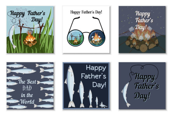 Father's Day Greeting Cards Graphic Print Templates By inkoly.art - Image 2
