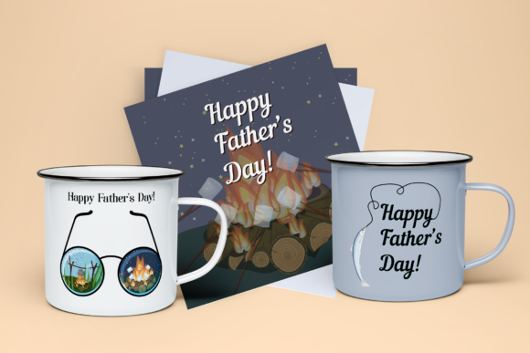 Father's Day Greeting Cards Graphic Print Templates By inkoly.art - Image 3