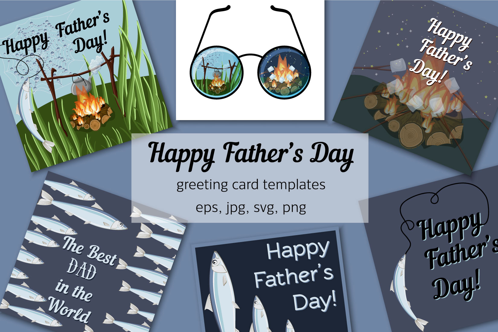 Father S Day Greeting Cards Graphic By Inkoly Art Creative Fabrica