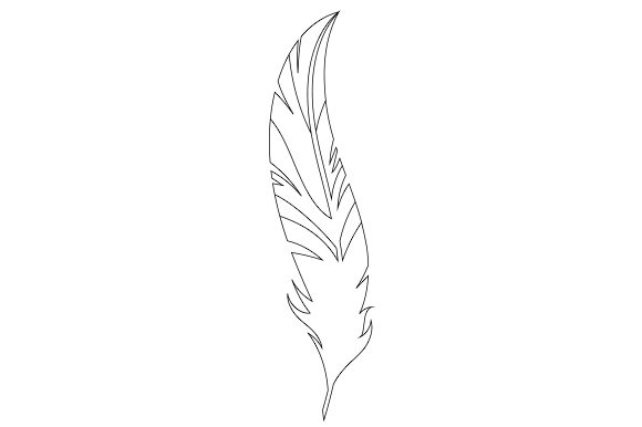 Download Free Feather Svg Cut File By Creative Fabrica Crafts Creative Fabrica for Cricut Explore, Silhouette and other cutting machines.