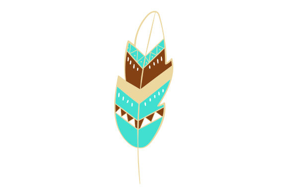 Feather Boho Craft Cut File By Creative Fabrica Crafts