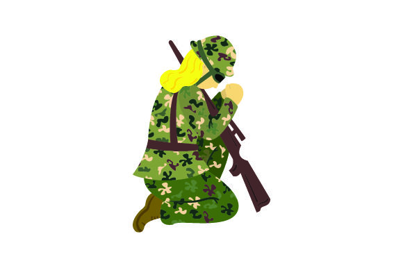 Female Soldier Praying Svg Cut File By Creative Fabrica Crafts