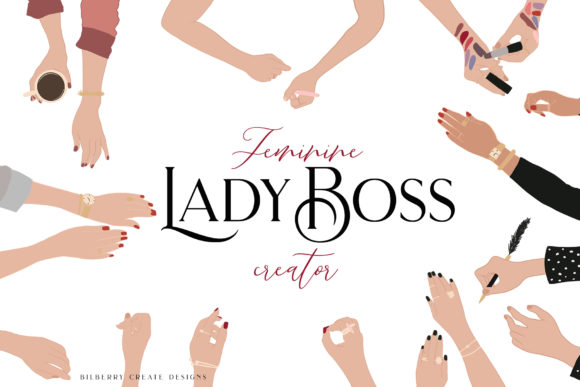 Feminine Lady Boss Creator Graphic Illustrations By BilberryCreate - Image 2