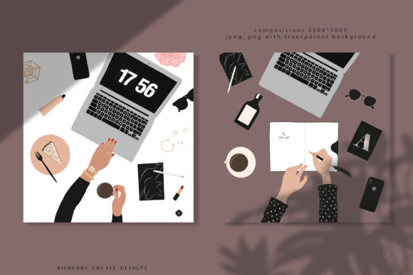 Feminine Lady Boss Creator Graphic Illustrations By BilberryCreate - Image 5