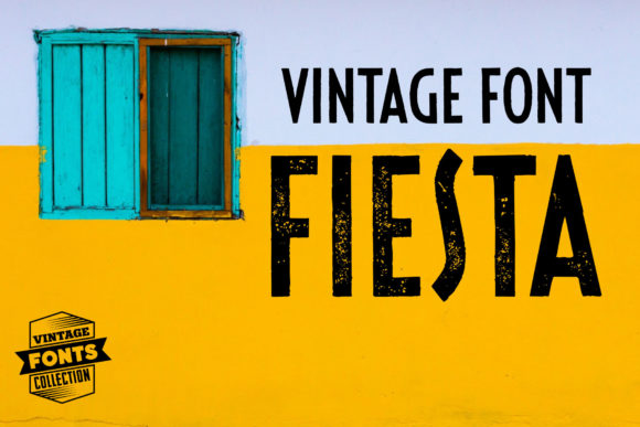 Print on Demand: Fiesta Display Font By grin3