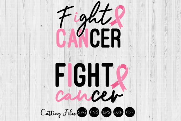 Download Free Fight Cancer Cancer Awareness Svg Graphic By Hd Art Workshop for Cricut Explore, Silhouette and other cutting machines.