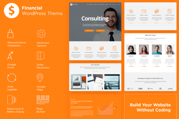 Financial - Consulting WordPress Theme Graphic WordPress By Visualmodo WordPress Themes
