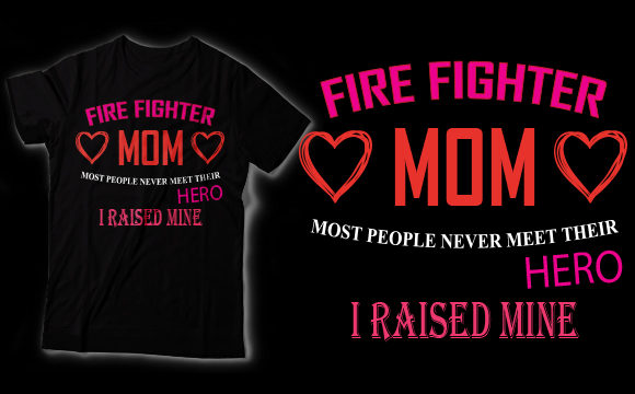 Download Free Firefighters Mom Graphic By Shirtgraphic Creative Fabrica for Cricut Explore, Silhouette and other cutting machines.