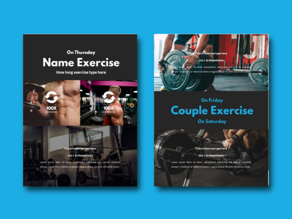 Download Free Fitness Ebook Powerpoint Templates Graphic By Rivatxfz Creative Fabrica for Cricut Explore, Silhouette and other cutting machines.