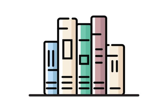 Download Free Five Books Icon Graphic By Home Sweet Creative Fabrica for Cricut Explore, Silhouette and other cutting machines.