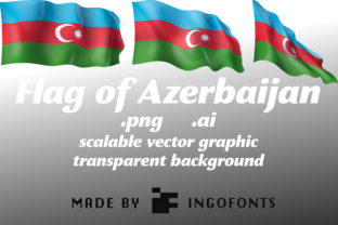 Flag of Azerbaijan Graphic By ingoFonts