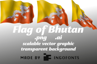 Flag of Bhutan Graphic By ingoFonts