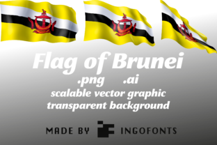 Flag of Brunei Graphic By ingoFonts
