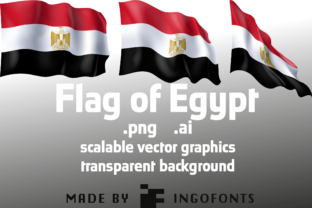 Flag of Egypt Graphic By ingoFonts