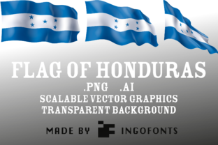 Flag of Honduras Graphic By ingoFonts