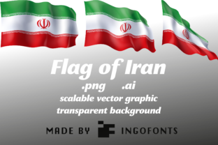 Flag of Iran Graphic By ingoFonts