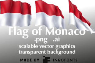 Flag of Monaco Graphic By ingoFonts