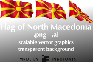 Flag of North Macedonia Graphic By ingoFonts