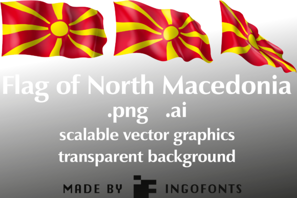 Download Free Flag Of North Macedonia Grafico Por Ingofonts Creative Fabrica for Cricut Explore, Silhouette and other cutting machines.