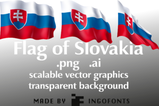 Flag of Slovakia Graphic By ingoFonts