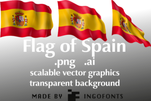 Flag of Spain Graphic By ingoFonts