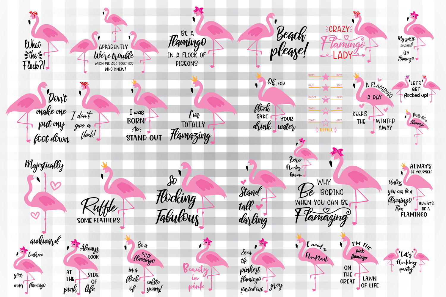 Download Free Flamingo Bundle Graphic By Illustrator Guru Creative Fabrica for Cricut Explore, Silhouette and other cutting machines.
