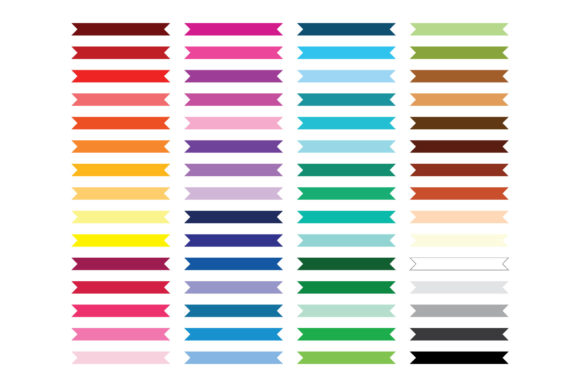Flat Ribbon Banner Clip Art Graphic Download