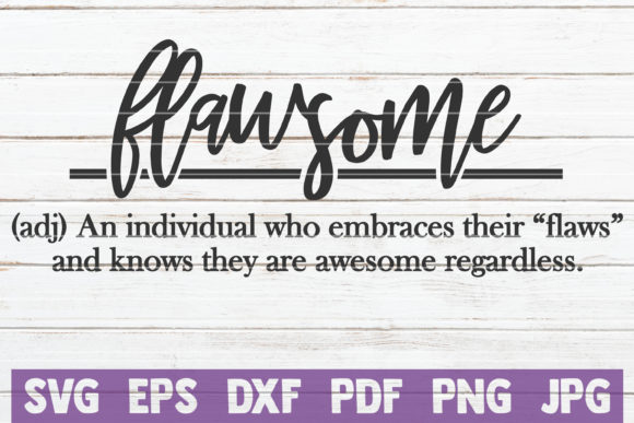 Download Free Flawsome Definition Cut File Graphic By Mintymarshmallows SVG Cut Files