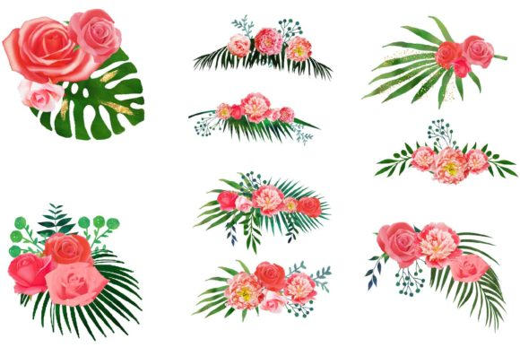 Print on Demand: Floral Arrangements Clipart Graphic Illustrations By fantasycliparts - Image 2