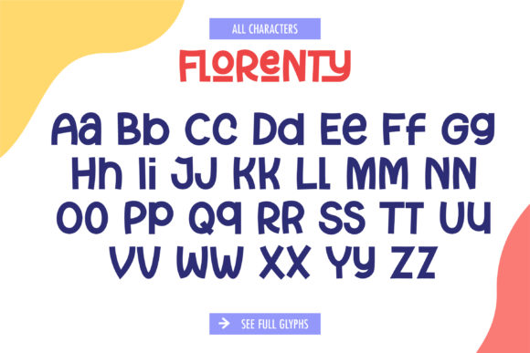 Print on Demand: Florenty Display Font By yellowline - Image 3