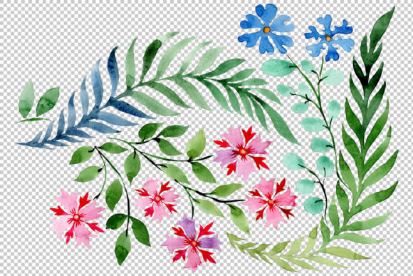 Download Free Flower Drawing Watercolor Graphic By Mystocks Creative Fabrica for Cricut Explore, Silhouette and other cutting machines.