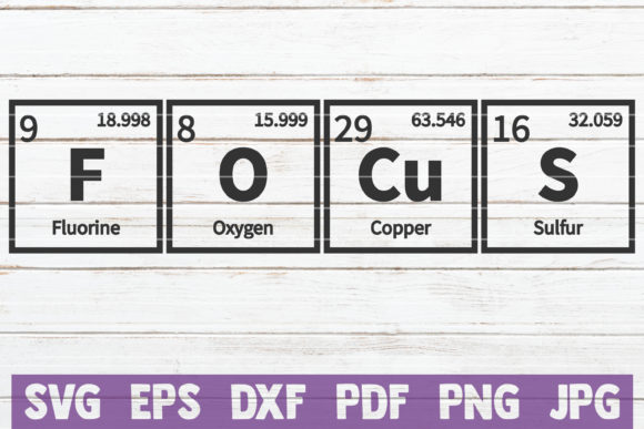 Focus Periodic Table SVG Cut File Graphic By MintyMarshmallows Image 1