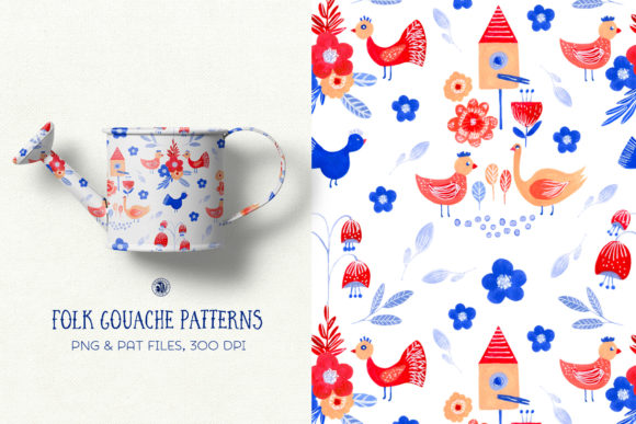 Folk Gouache Patterns Graphic Patterns By webvilla - Image 2