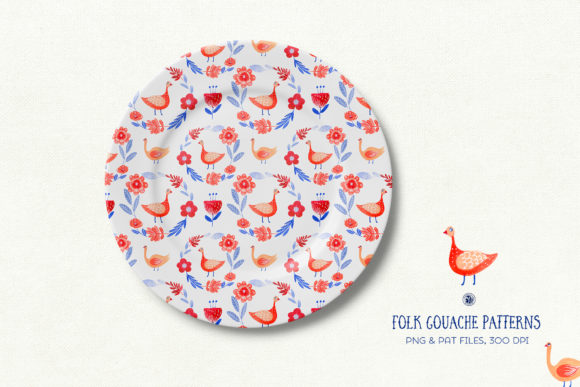 Folk Gouache Patterns Graphic Patterns By webvilla - Image 4