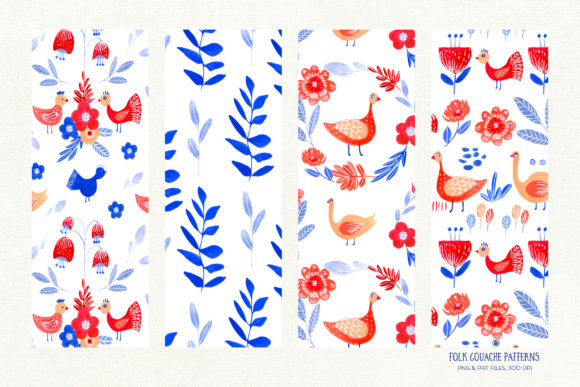 Folk Gouache Patterns Graphic Patterns By webvilla - Image 6