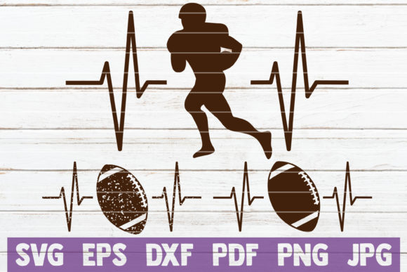 Football Heartbeat Cut Files Graphic Graphic Templates By MintyMarshmallows