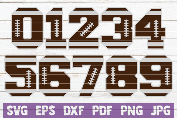 Football Numbers SVG Cut Files