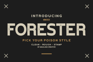 Print on Demand: Forester Sans Serif Font By Maulana Creative