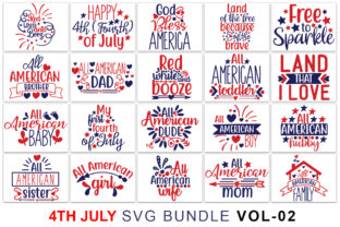Fourth of July Bundle Graphic Print Templates By Graphicsqueen